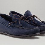 Blue Suede Moccasins Massimo Dutti
