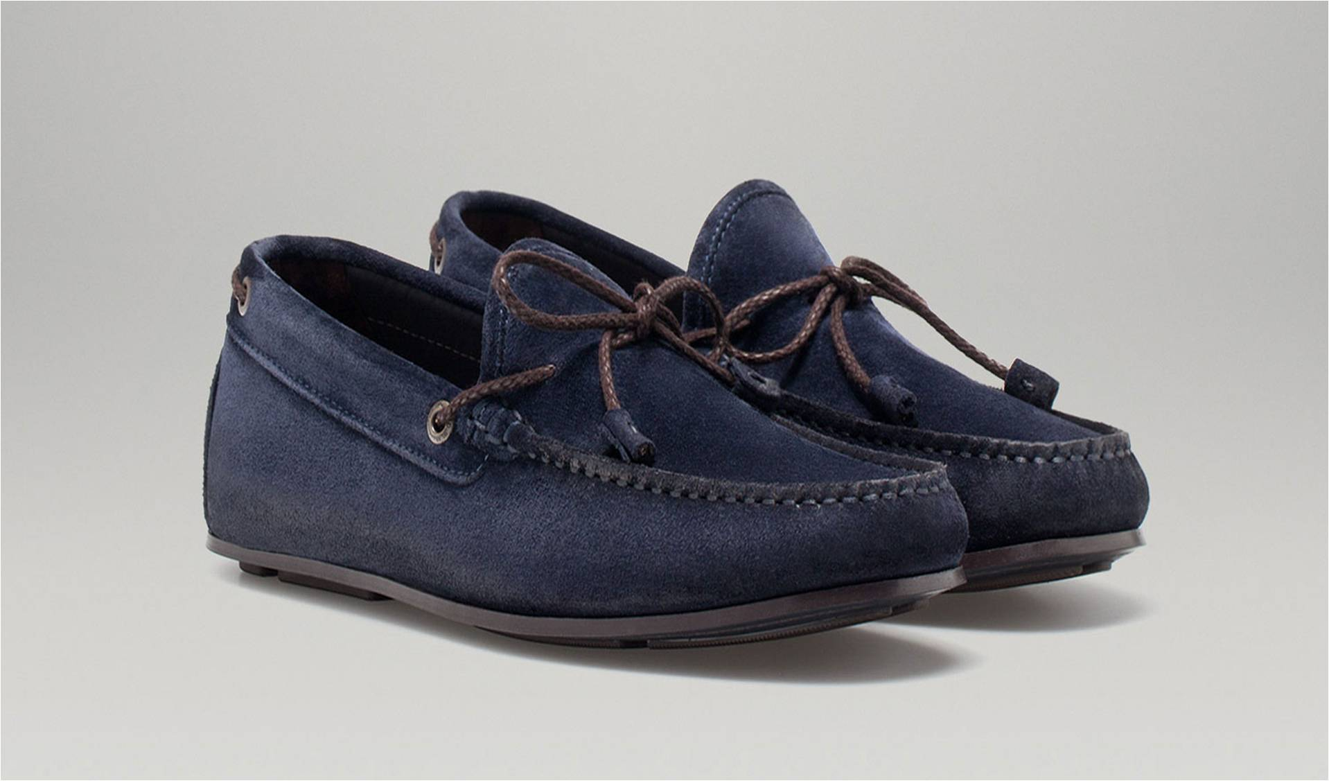 f65fea9122d Fashion Review   Semi Casual Blue Suede Moccasin Massimo Dutti