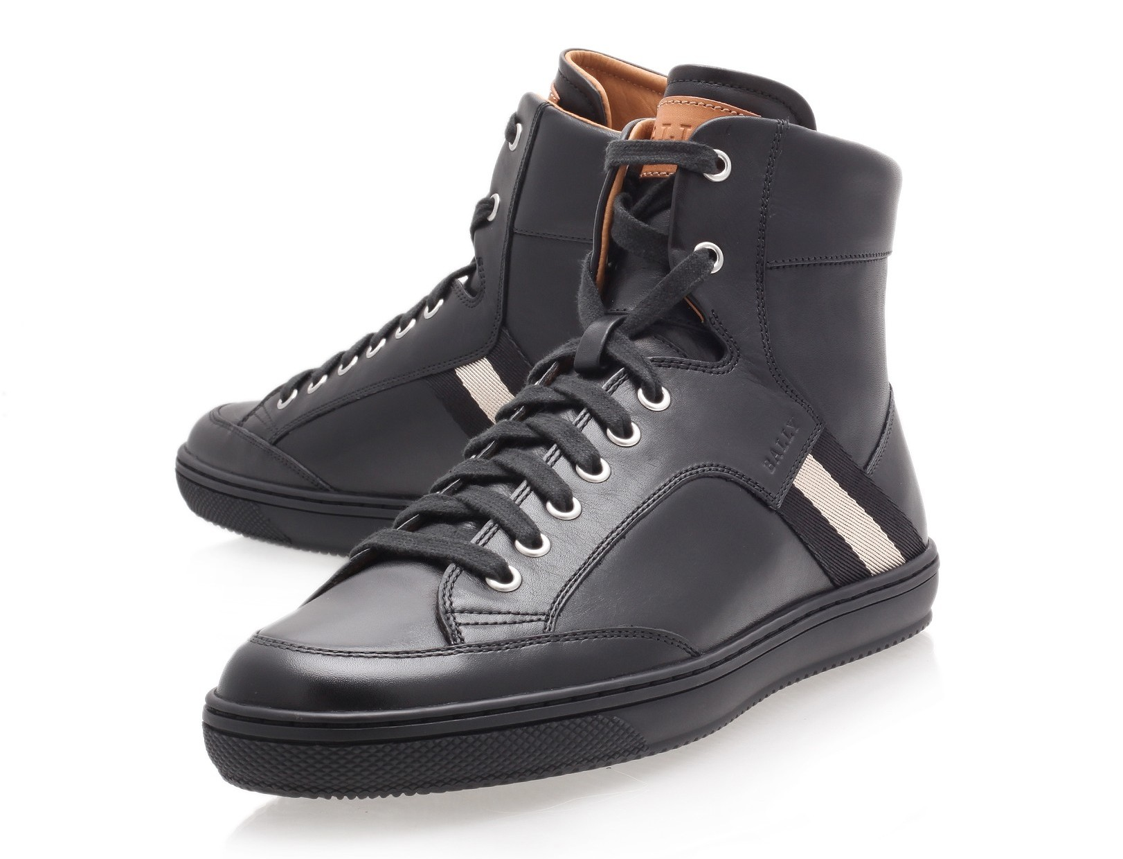 "e61b20c34f8 Fashion Review   Bally Black ""Oldani"" High-Top Trainer"