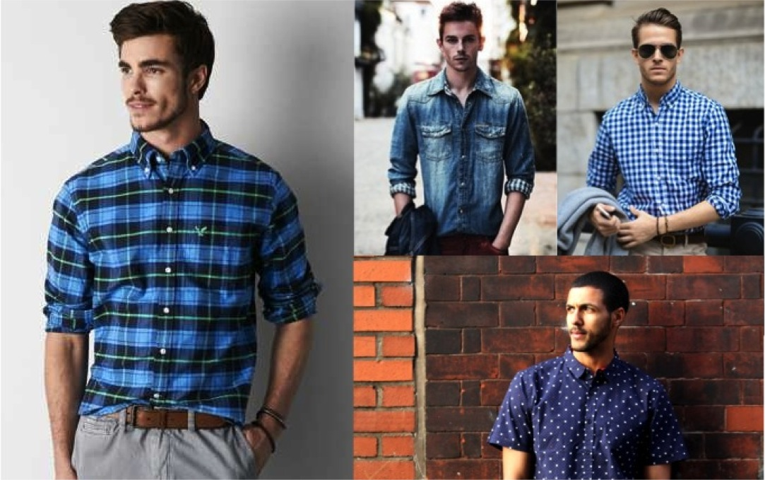 blue shirt for men