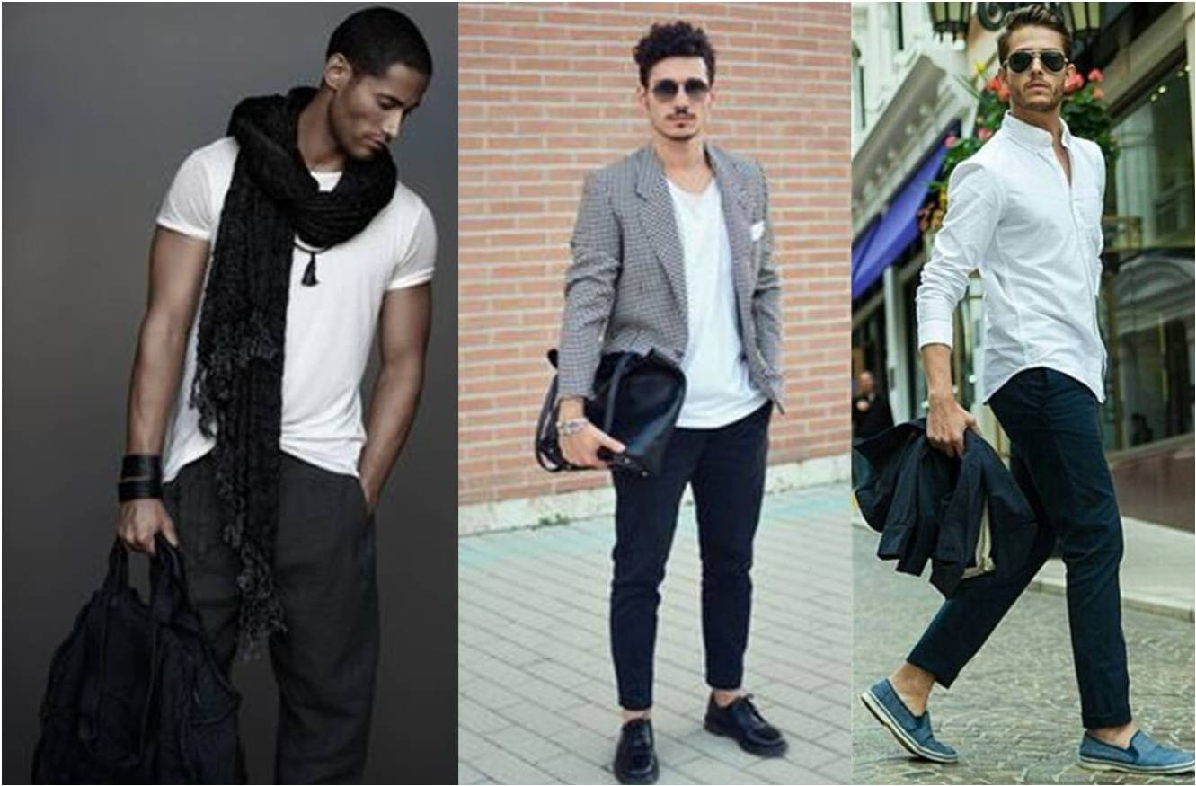 black and white for men