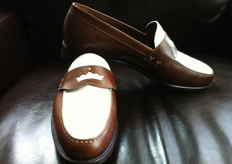 white loafers for men