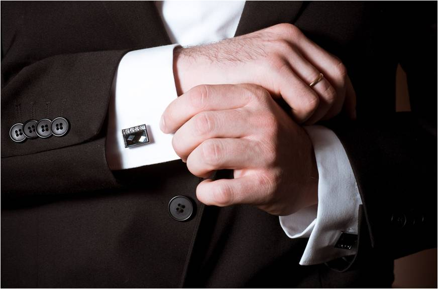 french cuffs with a suit