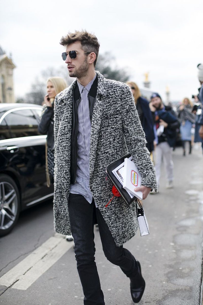 man in coat fashion