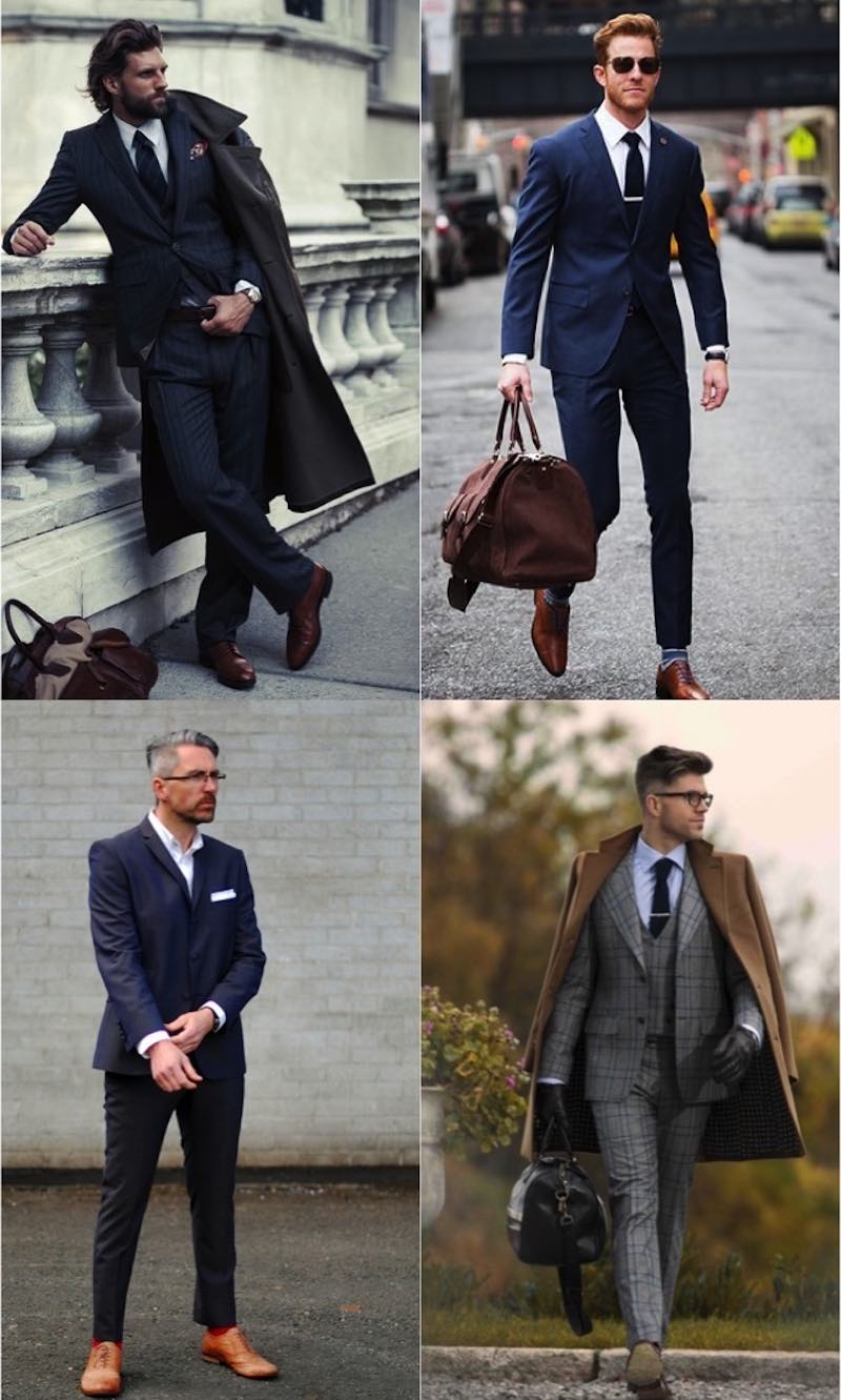 wearing dress shoes and suits