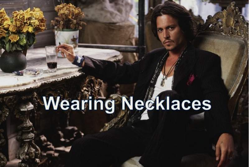 wearing necklaces for men
