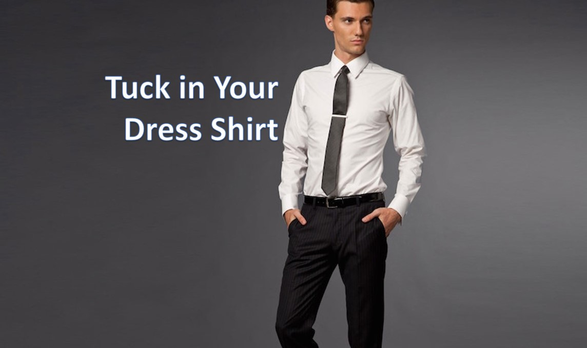 tuck in dress shirt